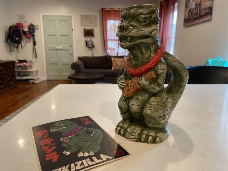 Tikizilla Tiki Mug Godzilla Mashup by Tiki Maniacs & Vassar #6 Rare Red Lei!