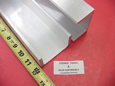 2 Pieces 3x 1.75 Aluminum Channel 6061 X .26 Flang 12 Long T6 Mill Stock