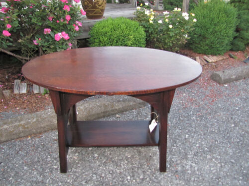 Antique good LIMBERT oval TABLE w4103  stickley era.