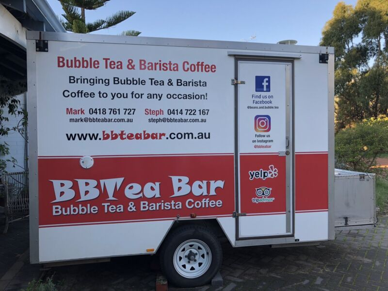 Mobile Bubble Tea and Coffee Cart, Trailer, Food Truck