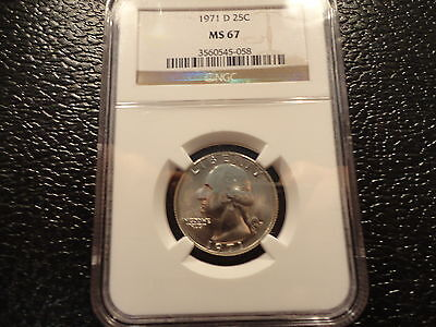 1971-D WASHINTON CLAD QUARTER NGC MS 67 GEM- VERY CLEAN AND AFFORDABLE-DISCOUNT