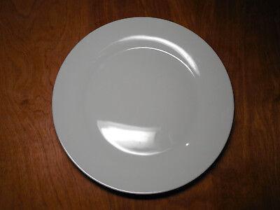 World Market WHITE WIDE RIM Dinner Plate 10 5/8