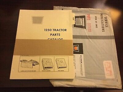 Oliver 1250 Tractor Parts Catalog With Original Shipping Envelope