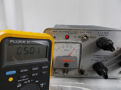 Power Designs Model 630 Integrated Circuit Power Supply 0-6v 0-3a Tested