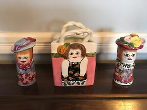 Susan Paley basket and salt and pepper.