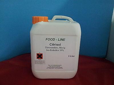 Zitronensäure - flüssig, Entkalker, Kalklöser - 5 l Kanister