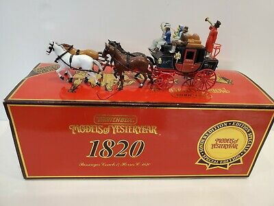 MATCHBOX MODELS of YESTERYEAR #YS-39 1820 Passenger Coach & Horses  NMINT in Box