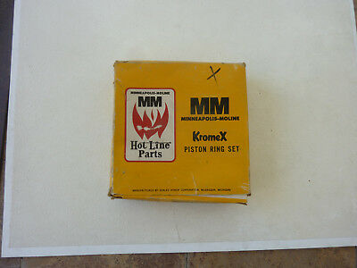 Minneapolis Moline Stainless Steel Piston Oil Ring Set Part 10r-1237 Ss-50u
