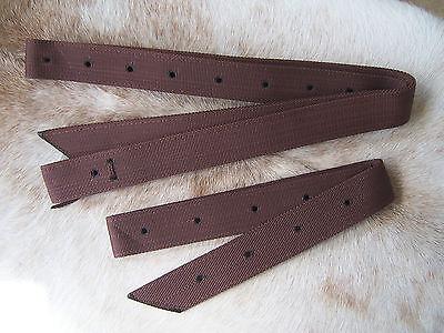 Brown Nylon Western Saddle Cinch Strap & Off Billet Set New Horse Tack