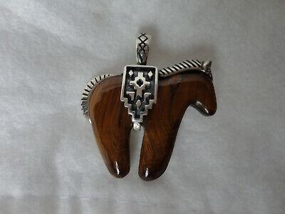 Carolyn Pollack Tiger's Eye Spirit Horse Enhancer 925 Sterling Silver -