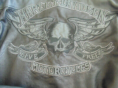 ⭐Harley Davidson Leather Jacket Limited Edition Rockhound Skull Willie G Men XL