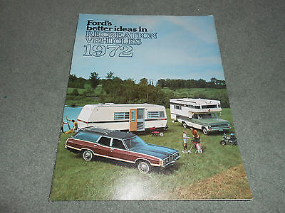 Brochure Catalog Guide - 1972 FORD RECREATIONAL VEHICLES BROCHURE CATALOG 72 CAR & TRUCK TOWING GUIDE Etc