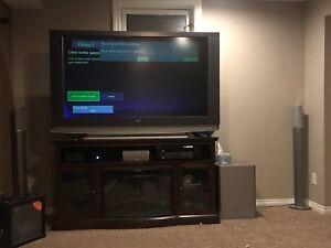 "60"" Sony TV and Harman Kardon sound system with Sony receiver"