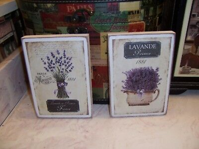 Paris best Lavanda Provence 1881 wall decor block sign Shabby Cottage Chic