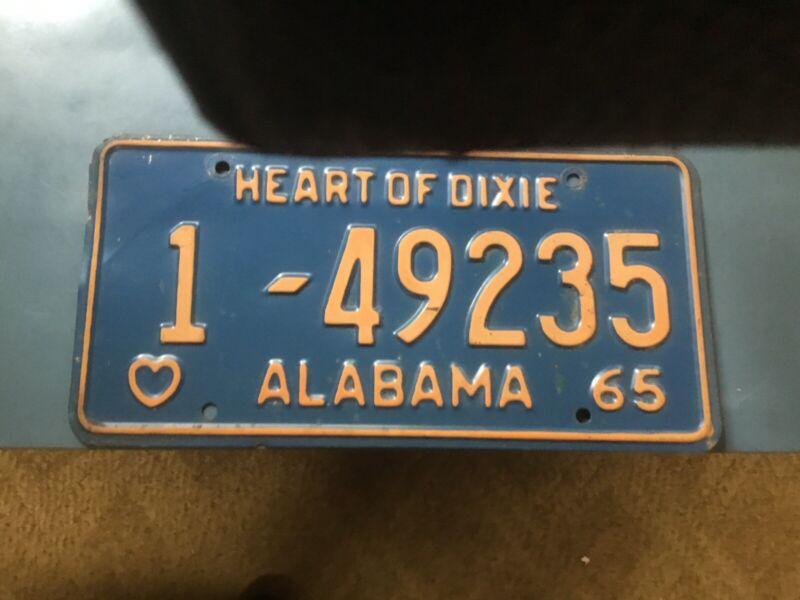 Alabama Car Tags 1965