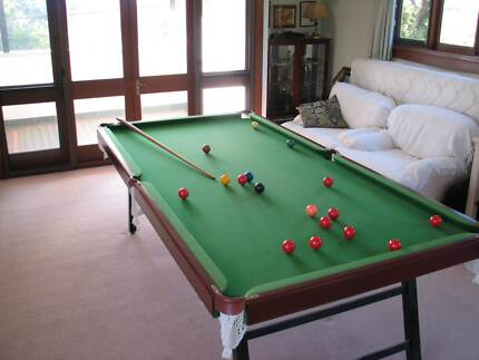 8ft x 4ft SLATE BASED POOL TABLE - folding legs Hunters Hill Hunters Hill Area Preview