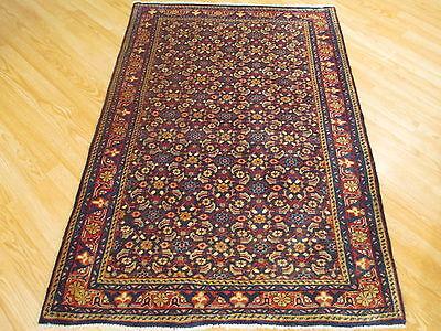4x5  Fine Rectangle Persian Bidjar- Mahi Handmade Knotted Wool Rug 583383