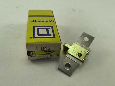Square D B45 Overload Relay Thermal Unit New