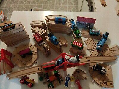 HUGE Lot of Thomas the Train Wooden Railway Track & Engines & bridge brio.