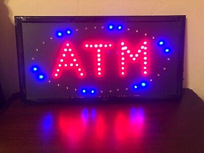 Ultra Bright Atm Sign Led Neon Business Animated Motion Light Onoff With Chiain