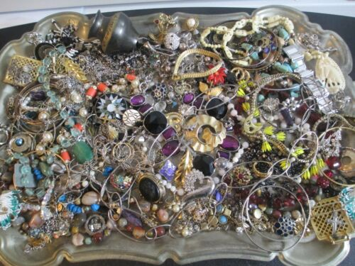 HUGE! Vintage to Now JUNK DRAWER Estate Jewelry Lot Unsearched Untested