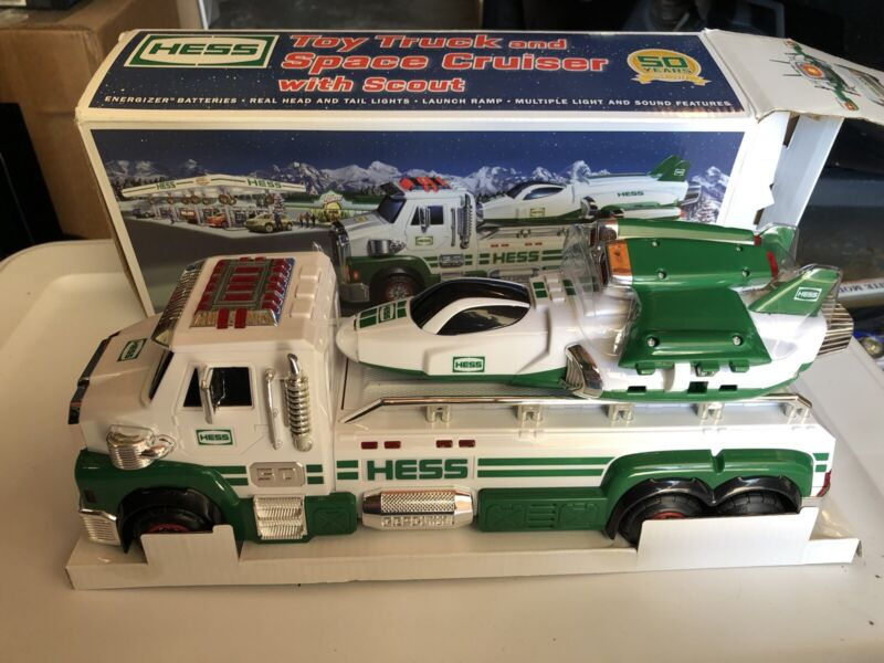 2014 Hess 50th Anniversary Toy Truck And Space Cruiser With Scout, New In Box