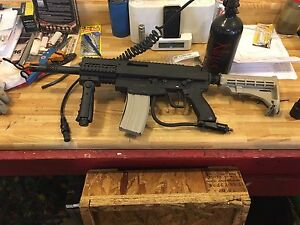 Tippman A5 with electronic grip/trigger