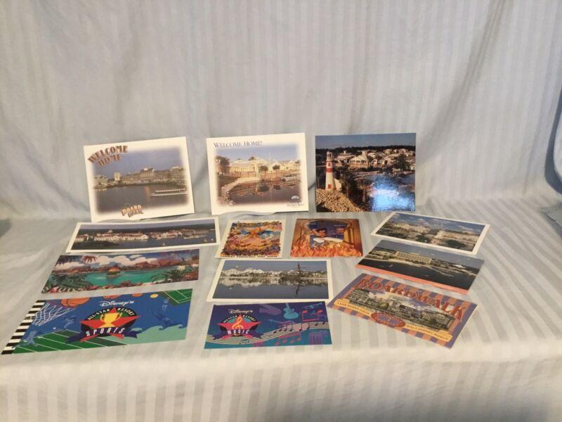 Walt Disney World 11 resort postcards Hercules And Aladdin Retro