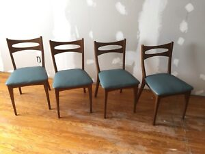 Four Dining Chairs Mid Century Modern