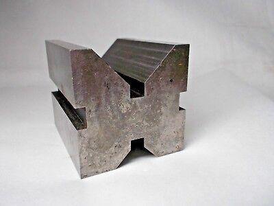 Vintage Steel V Block Machinist Lathe Milling Tool Holder 1-78 X 1-12 X 1-12