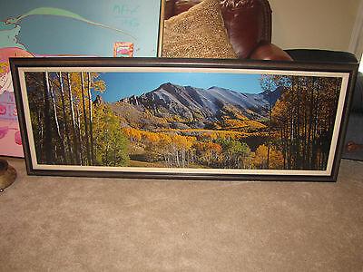 "Thomas Mangelsen ""Rocky Mountain Indian Summer"" Original Photo 22""x68"" 422/950"
