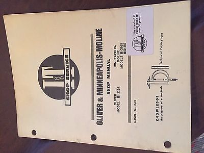 It Oliver Shop Tractor Shop Manual Super Cockshutt Moline 2255 G955 G1355