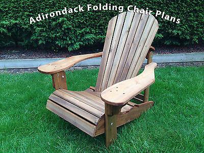 Adirondack Folding Chair plans  - Alfresco Furniture