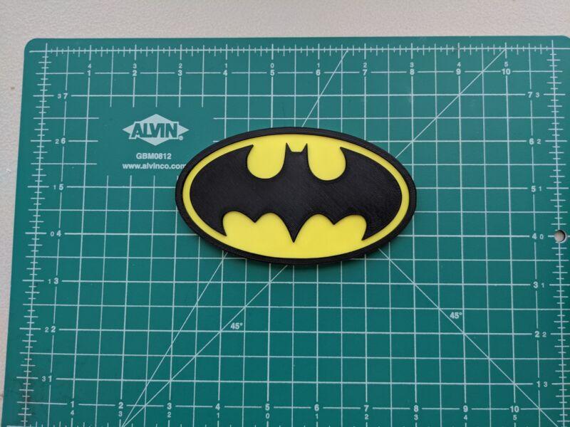 Batman bat emblem logo 3D printed color wall mount display