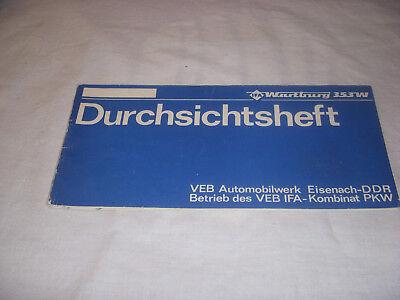 Durchsichtsheft VEB Automobilwerk Eisenach 1981 WARTBURG 353 W -DDR