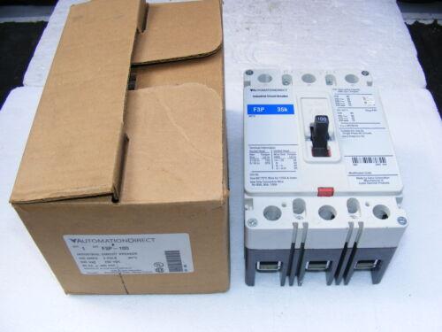 Automation Direct F3P-100 Circuit Breaker 3 Pole 100 amps 600 VAC 250 VDC NOS