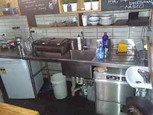 Restaurant stainless table,sink,taps the hole lot Randwick Eastern Suburbs Preview