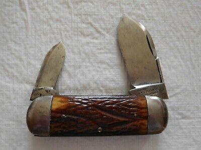 Antique Vintage Case Bros. Tested XX Sunfish Elephant Toe Toenail Pocket Knife