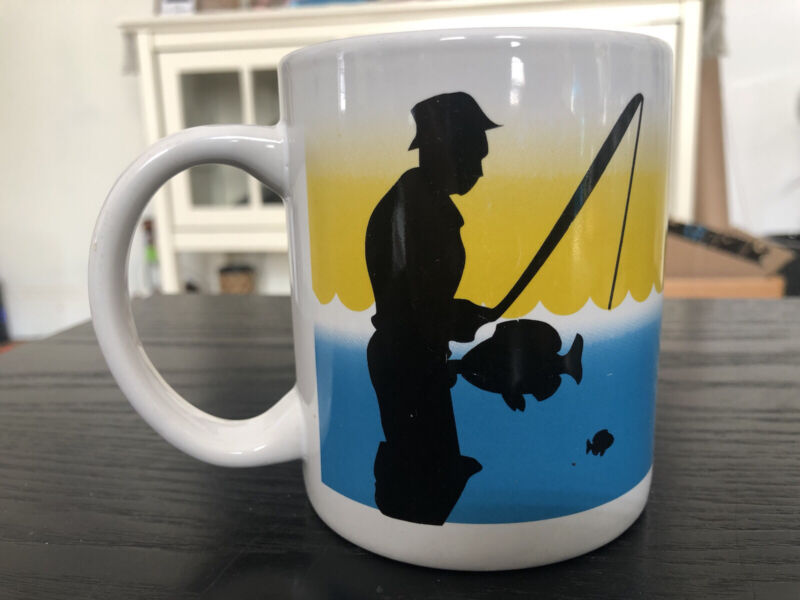 The Happy Fisherman cup mug