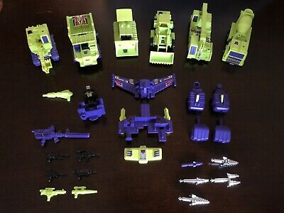 1980/1984 Takara Transformers G1 Devastator Constructicons Complete + Extras