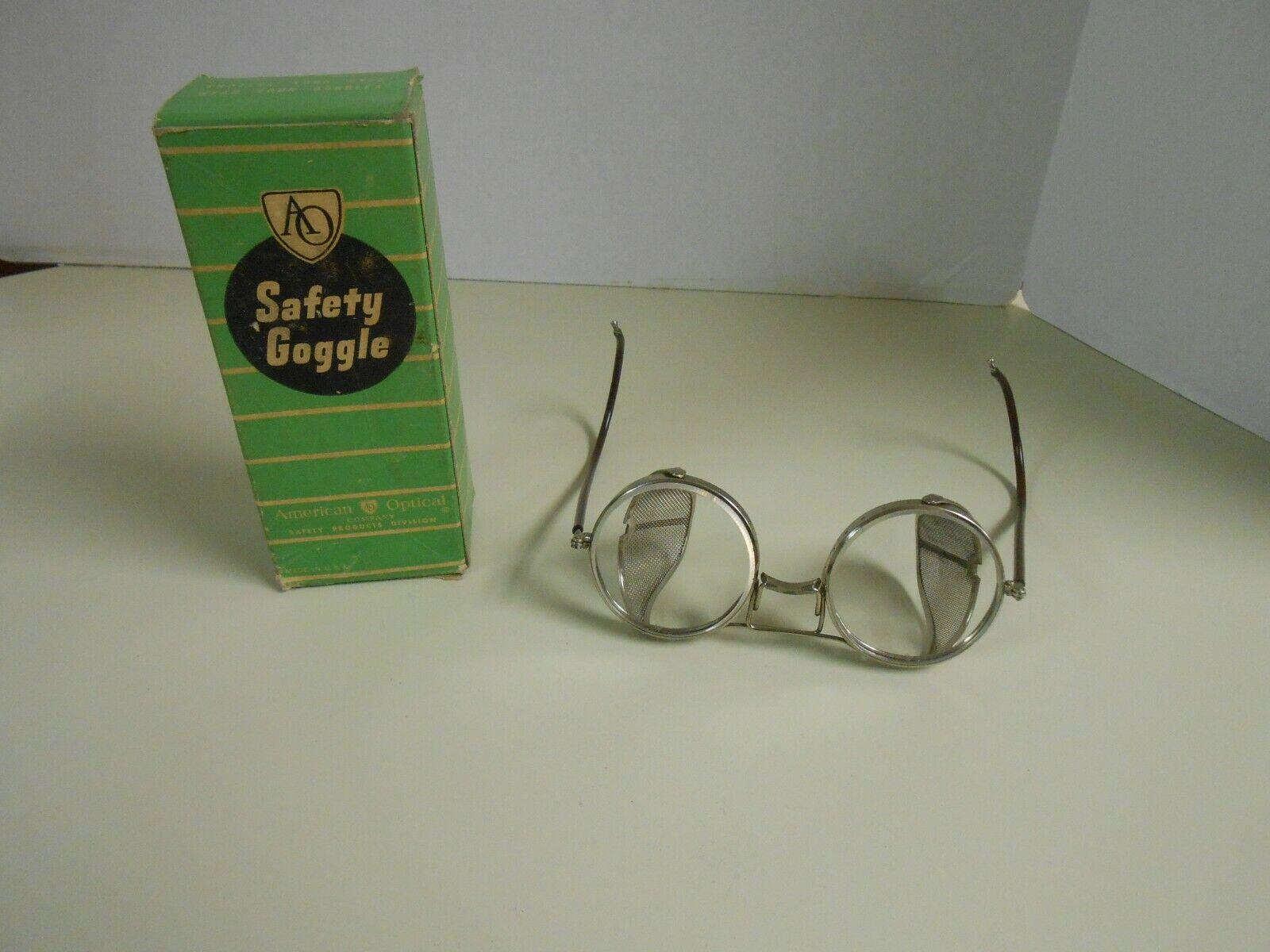 NIB AO American Optical Round Safety Glasses in Original Box
