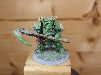 CLASSIC METAL CHAOS SACE MARINE TYPHUS HERALD OF NURGLE PAINTED 1026