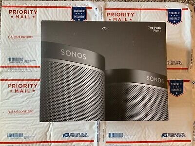 Sonos Play:1 Wi-Fi Speaker Two-Pack - Black BRAND NEW IN BOX