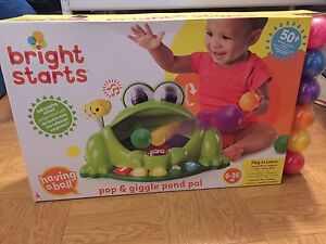 Toddler toy bright stars frog