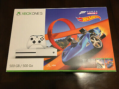 Xbox One S 500GB Console Forza Horizon 4 Hot Wheels Special Edition - White