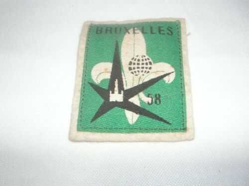OLD 1958 BOY SCOUT PATCH, MADE IN BELGIUM