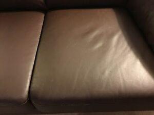 Brown Leather Couch set of 3 Edmonton Edmonton Area image 4