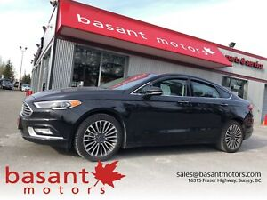 2017 Ford Fusion Titanium, Nav, Heated/Cooled Seats, Sunroof!!