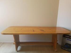 Wood Carved Study Desk Aldinga Morphett Vale Area Preview
