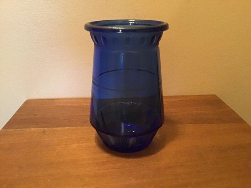 """Vintage LE Smith Mt Pleasant Cobalt Blue 5 5/8"""" Vase"""